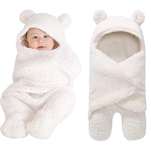 Swaddling Blankets Newborn Baby Boys Girls Blankets Swaddling Wrap Baby Girl Shower Gift Plush Swaddle Blankets White