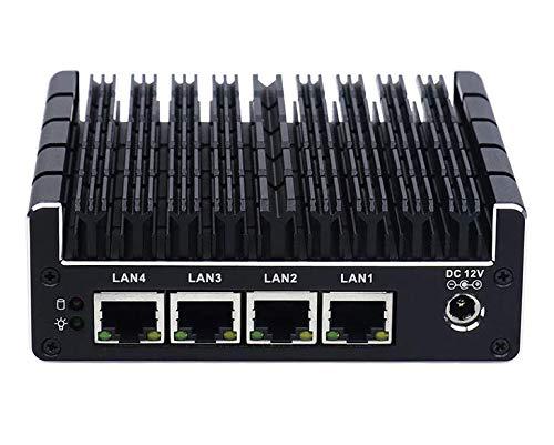 HSIPC Celeron J3160 Quad Core Firewall Micro Appliance, Mini PC, Nano PC, Router PC, 4 RJ45 Port AES-NI PXE Pfsense OPNsense Barebone System
