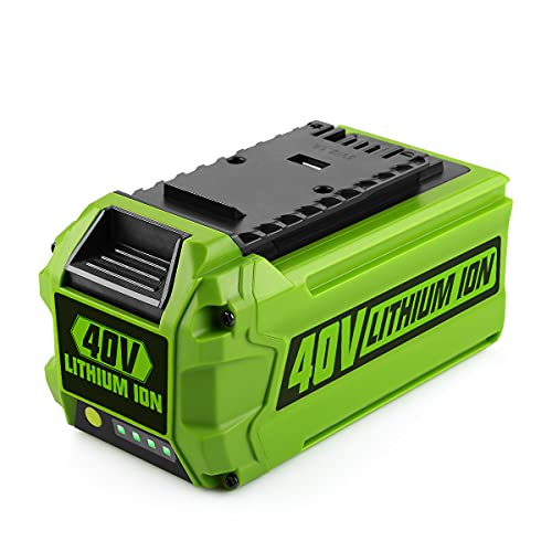 Energup 40V 2500mAh Li-ion Ersatz Akku für GreenWorks 40V G-MAX 29252 20202 22262 25312 25322 20642 22272 27062 21242 Werkzeugeakkus (Nicht für Gen 1)