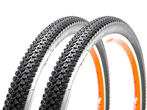2 Stück 24 Zoll Fahrrad MTB Reifen 24x1.95 Mantel Decke Tire 47-507 schwarz