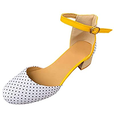 Highly Recommend Great Value Fashion Women Round Toe Breathable High Heels Sandals Buckle Strap Dancing Shoes Suitable for All Occasions