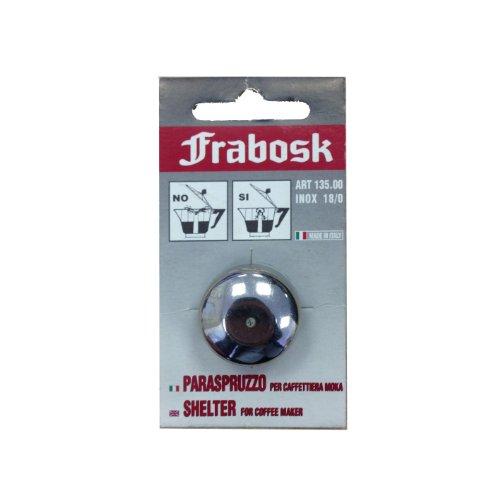 Frabosk anti spritz Aufsatz für Ihren Espressokocher, Mokkakanne Edelstahl