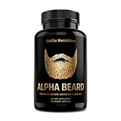 BUILD A BETTER BEARD from the follicles up with Alpha Beard Hair Supplement for men. Combining a wealth of hair vitamins for faster hair growth and health, this potent formula promotes beard growth by ensuring that you have proper nutritional support...