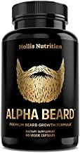 ALPHA BEARD Growth Vitamins | Biotin 10,000mcg, Patented OptiMSM, goMCT, Collagen | Beard and Hair Growth Supplement for Men | Grow Stronger, Thicker, Healthier Facial Hair - 60 Capsules