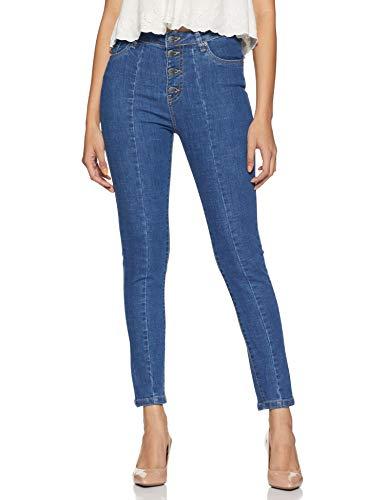 AKA CHIC Women's Slim Fit Jeans (AKCB 1412_Blue_30)
