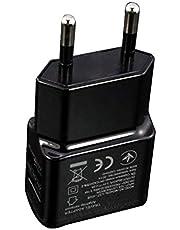 Przenośny podwójny zasilacz USB 1 A gniazdko do ładowarki telefonów komórkowych Travel Smart Adapter ładowarka do smartfonów (czarny)
