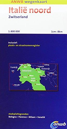 Italië Noord, Zwitserland: schaal 1:800.000