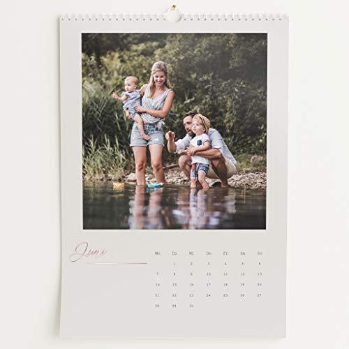 Fotokalender 2021 mit Veredelung in Roségold, Neues Jahr, Wandkalender mit persönlichen Bildern, Kalender für Digitale Fotos, Spiralbindung, DIN A3 Hochformat