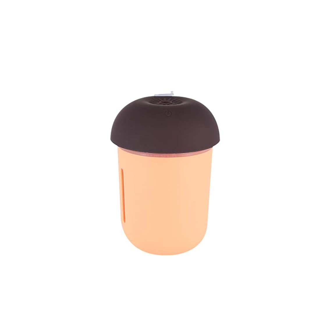 ブランド着実に肺炎ZXF 新しいクリエイティブusb充電車の空気清浄機多機能水道メーターファンナイトライトスリーインワンきのこ加湿器オレンジピンク 滑らかである (色 : Orange)