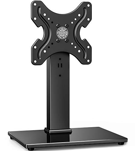 """Fitueyes Universal TV Stand Tabletop TV Base with Swivel Mount for 19-39"""" inch Flat Screen TVs LCD LED TVs/Monitor/PC TT104001GB"""