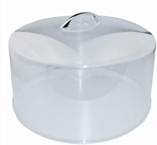 New Star Cake Cover with Handle, 12-Inch Diameter, Clear