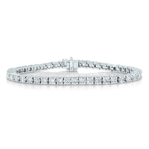 11 cttw Certified Classic Tennis Diamond Bracelet 14K White Gold I1-I2 Clarity H-I Color