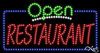 17x32x1インチ レストラン アニメーション点滅LEDウィンドウサイン