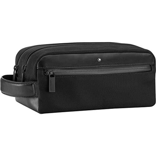 Montblanc NFL - Wash Bag con 2 zip, colore: Nero