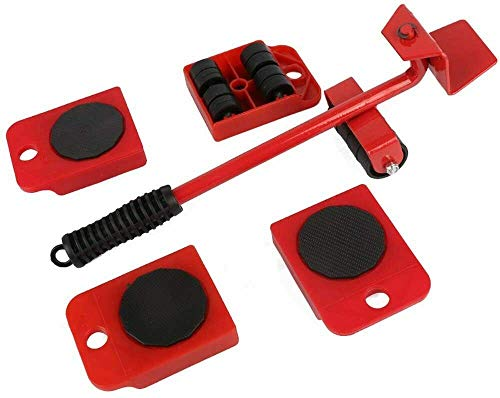 Furniture Lifter Easy to Move Slider 5 Piece Mobile Tool Set Moving and lifting, Heavy Furniture Appliance Moving and Lifting System - Maximum Load Weight 150Kg