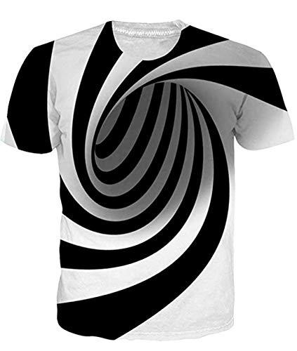 Fanient Herren Damen Aufdruck T-Shirt Rundhals Tee S M L XL XXL, Space Cat, M