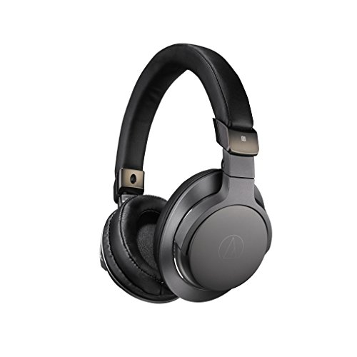 Audio-Technica ATH-SR6BTBK Bluetooth Wireless Over-Ear High Resolution Headphones with Mic & Control, Black