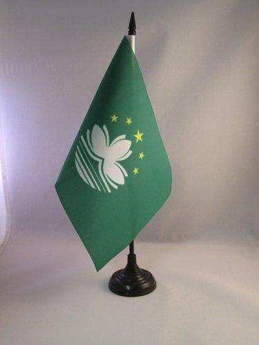 AZ FLAG TISCHFLAGGE Macau 21x14cm - CHINESISCHE TISCHFAHNE 14 x 21 cm - flaggen