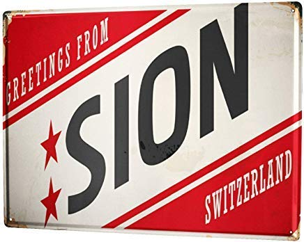 Kilburn Travel Kitchen Sion Switzerland Retro Creative Wall Decoration Personality Trend Background Simple Style Iron Painting
