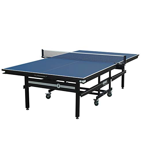 JOOLA Signature Pro Tournament-Quality Indoor Table Tennis Table w/Professional Ping Pong Net and Post Set - 25mm Ping Pong Table w/Playback Mode - One Piece Undercarriage - Corner Ball Holders