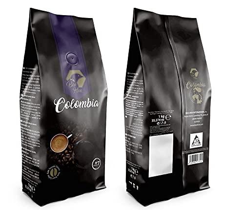 Beo Hive Café en Grano, Cafe Colombia gran Crema 100% Arabica, Tueste Italiano Grano, 1 kg, Aromático y de Tueste Natural, Café en Grano Natural, Café en Grano Calidad Premium