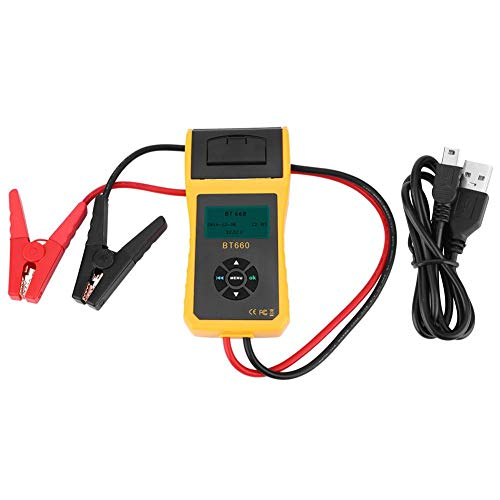 Save %9 Now! Auto Battery Direct Health Checker, BT-660 Car Battery System Tester Analyzer 12V/24V B...