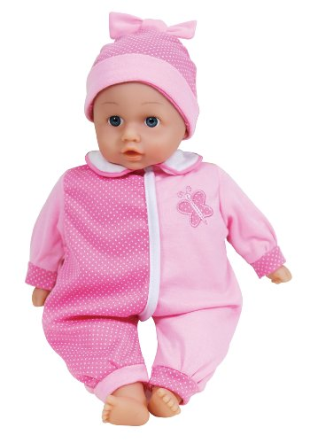 LISSI DOLLS 91400 - Candy Sprechpuppe mit 6 verschiedenen Babylauten, Circa 36 cm