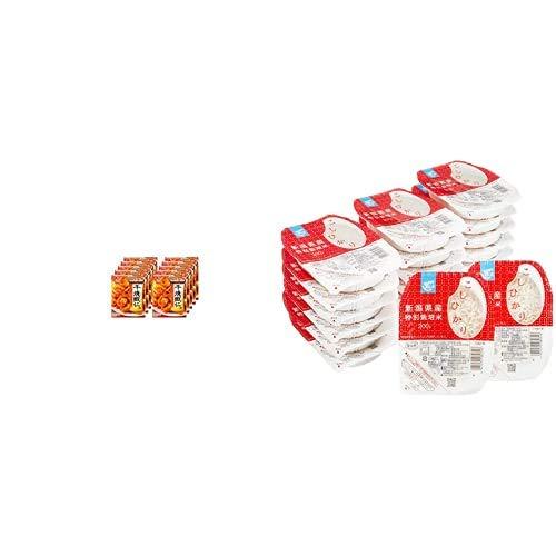 味の素 Cook Do 干焼蝦仁用 110g ×10個 + Happy Belly パックご飯 新潟県産こしひかり 200g×20個(白米) 特別栽培米