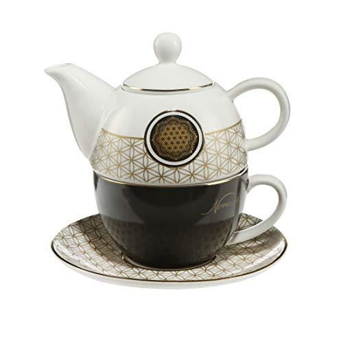 Goebel 23500031 Lotus Serie Tea for One Yin Yang Schwarz