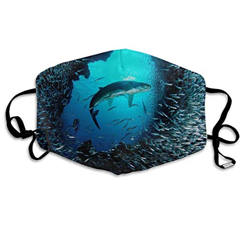 haai - dier achtergronden unisex volledige dekking buis gezicht masker bananen UV bescherming nek gaiter hoofdband