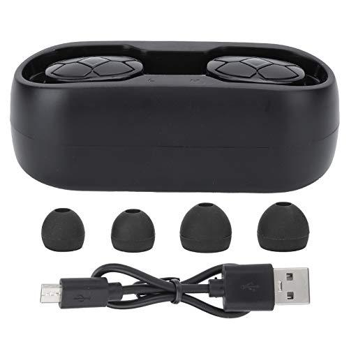 Inalámbrica Bluetooth 5.0 Auriculares Tws Manos Libres En El Oido Impermeable EstéReo Auricular con Cargando Caso, Ruido Cancelado Auriculares Impermeable Portátil por Deportes, Viaje, Trabaja - Negro