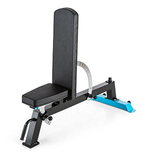 Capital Sports Compactar Panca Fitness Palestra Multifunzione Per Addominali E Pesi (Schienale E Superficie Di Seduta Regolabili Separatamente, Imbottitura Spessa, Max 500 Kg)
