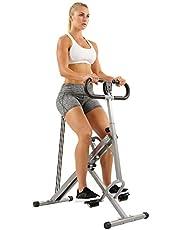 Sunny Health & Fitness Nr. 077 Squat Assist Row-N-Ride kniebuigingen, roei- en fietshhometrainer voor kniebuig- en zittraining inclusief trainingsvideo's, ergometer, hometrainer, fitnessapparaat