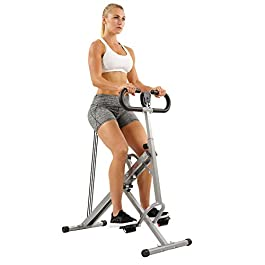 Sunny Health & Fitness Squat Assist Row-N-Ride Trainer f...