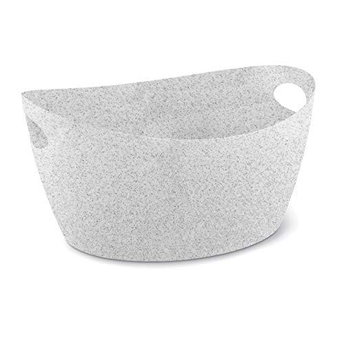 Koziol Zuber Bottichelli L, Korb, Utensilo, Bottich, Thermoplastischer Kunststoff, Organic Grey, 15 L, 5730670