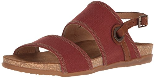 El Naturalista Zumaia 5241T- Damenschuhe Sandalette/Sling, Rot, Textil/Leder (Canvas/Pleasant), Absatzhöhe: Flach