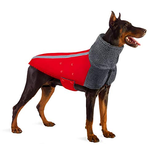 Warm Polar Fleece Turtleneck Waterproof Winter Dog Coat