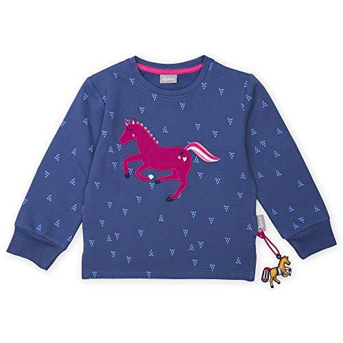 Sigikid Mädchen Sweatshirt, Blau (Marlin 758), (Herstellergröße: 122)