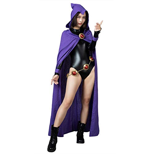 CosFantasy Rachel Roth Raven Cosplay Cloak & Jumpsuit mp004071 (Small) Purple