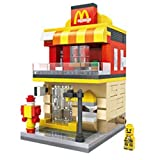 Beauy Girl Diamond Block Building McDonalds Building Stacked Toys Blocks Parent-Child Games Children's Educational Toys