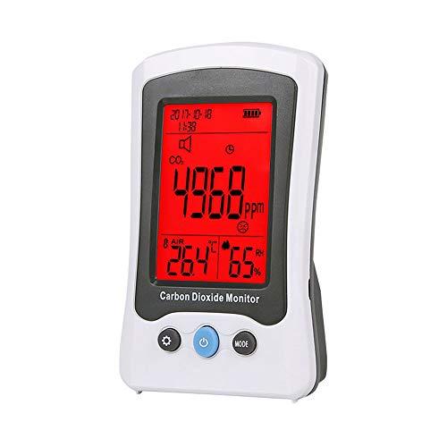 XFHLL Professioneller Luftdetektor, Leicht Zu Tragen Schnelle Erfassung Der Luftqualität Kohlendioxid-Gas-Detektor-Prüfvorrichtung, Für Start Autoaußenluftverschmutzung Erkennung