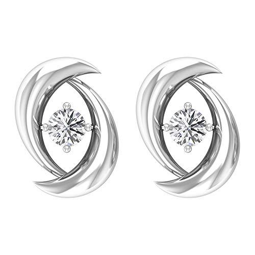 Rosec Jewels 18 quilates oro blanco redonda H-I Diamond
