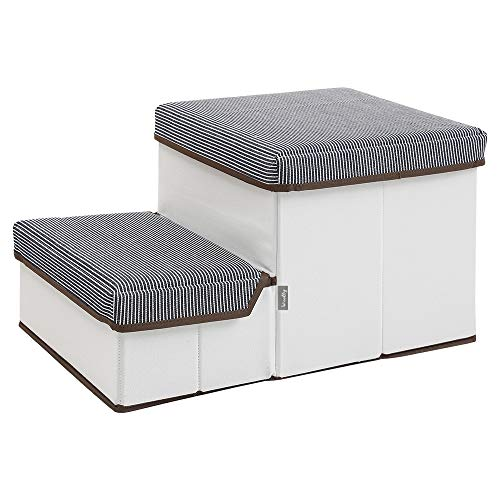 Woolly pet Storage Stepper, Foldable 2-Tier pet Stairs with Size of 20