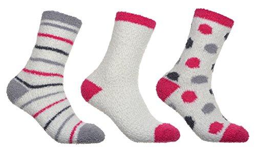 EU 36-41 calze da letto per donna nei colori pastello taglia unica calzini da notte Brubaker 10 paia di Bedsocks