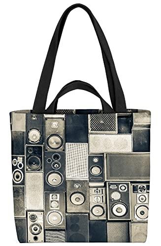 VOID Musik Lautsprecher Boxen Tasche 33x33x14cm,15l Einkaufs-Beutel Shopper Einkaufs-Tasche Bag
