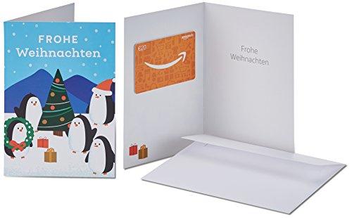 Amazon.de Geschenkkarte in Grußkarte - 20 EUR (Fröhliche Pinguine)