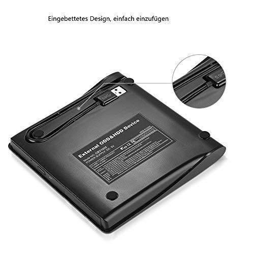 USB3.0 externes CD DVD Laufwerk Brenner, Superdrive für Alle Laptops/Desktop Unter Windows und Mac OS für MacBook, MacBook Pro, MacbookAir, iMac - ourvann