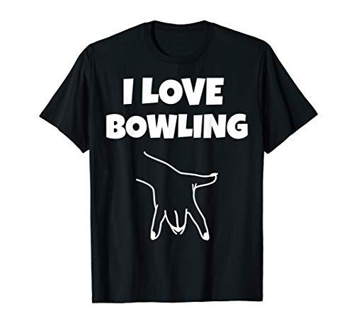 Witziger Bowling Spieler Spruch I Finger Die Kugel Orgasmus T-Shirt
