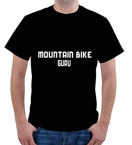 Custom Brother - Mountain Bike GURU Sports Exercise Men's Male Short Sleeve T-Shirt Top Sty#181 Black
