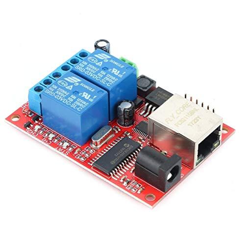 Heaviesk LAN Ethernet 2-Wege-Relaisplatine Verzögerungsschalter TCP/UDP-Controller-Modul Web-Server Elektronik-Kit Platine